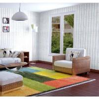三合牌 自粘墙纸 经典条纹 加厚自贴壁纸田园卧室背景墙 10米