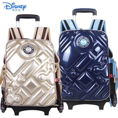 迪士尼米奇男生儿童卡通小学生双肩书包可拆卸三轮可爬楼拉杆书包