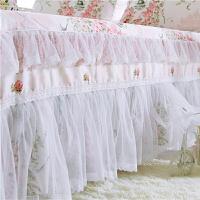 全棉床罩纯棉床裙单件1.8m床双人床罩1.2/1.5m/2米床裙式床单床套
