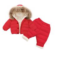 宝宝羽绒服套装1-3-6岁儿童小童女男童婴儿冬装