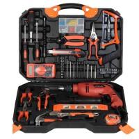 哈博-120木工电动五金工具套装 电钻家用工具箱电工维修组合组套冲击钻