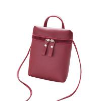 仙女单肩包手提包上新小包包女2018新款斜挎包时尚斜跨女包 酒红色 手提小包包