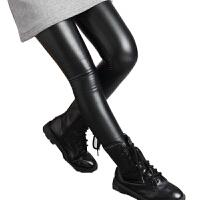 女童PU皮裤秋冬儿童冬装打底裤外穿洋气