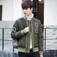 男士韩版帅气冬季加厚羽绒服反季清仓青年男装潮学生时尚短款外套 绿色