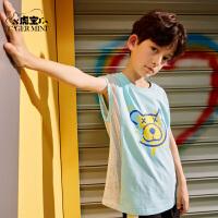 【3件2折:35元】小虎宝儿儿童纯棉背心2021年夏季新款男童无袖t恤中大童薄