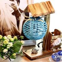 七夕礼物圆球海贝台灯创意毕业生日礼物送女友女生闺蜜老婆男友朋新奇实用 圆球海贝台灯(蓝色)