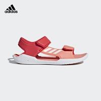 阿迪达斯(adidas)新款童鞋男童沙滩鞋魔术粘儿童凉鞋