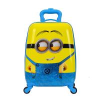 18寸16寸儿童拉杆箱小学生卡通拉杆书包小黄人硬壳行李箱 明黄色 18寸小黄人