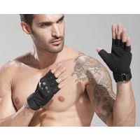 健身手套男护腕军杠铃战术户外爬行运动健身用半指训练健身房锻炼