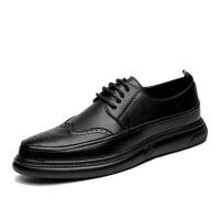 夏季潮鞋布洛克雕花男鞋英伦复古正装休闲皮鞋男士韩版增高低帮鞋
