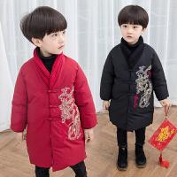 宝宝拜年服唐装儿童新年装中国风改良冬季厚款过年喜庆衣服