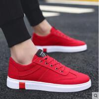 新款网红鞋男士休闲板鞋抖音同款红色男鞋子百搭精神社会小伙潮鞋