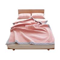 款北欧简约粉色床盖三件套绗缝夹棉盖毯床单枕套床上用品