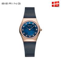 bering白令石英表女士手表时尚薄防水腕表水钻钢带女表11927
