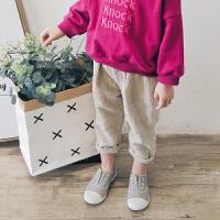 女童春装新款韩版时尚潮衣儿童长裤子宝宝灯芯绒裤