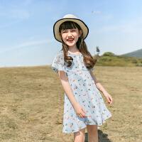 女童雪纺连衣裙夏装大童儿童装女孩夏季裙子