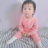 男婴儿连体衣服0-8个月秋季秋冬季宝宝新生儿针织冬装毛衣睡衣