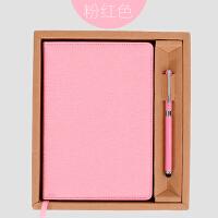 商务笔记本文具礼品套装 企业记事本+签字笔定做公司订做LOGO压印