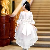 女童晚礼服公主裙婚纱儿童长白夏花童拖尾蓬蓬纱生日钢琴演出走秀