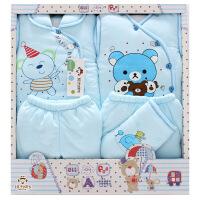 班杰威尔 冬季加厚保暖新生儿衣服纯棉婴儿礼盒套装初生宝宝内衣服装用品 加厚温暖熊