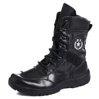 男鞋高帮靴15阅兵徒步方队作战靴阅兵靴靴军靴马丁靴战术靴体能靴 黑色