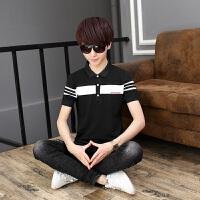 2018年夏季短袖T恤青少年初中学生衬衫领大童polo衫16岁男孩