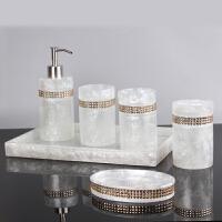 现代简约卫浴五件套欧式漱口杯浴室卫生间洗漱套装 浴室用品摆件