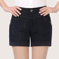 妈妈装夏季大码短裤中年女裤修身显瘦短裤三分中老年女装妇女裤子
