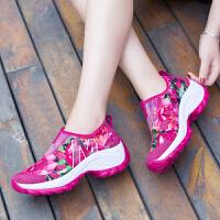 夏季新款透气摇摇鞋网面单鞋韩版运动鞋女鞋厚底增高网鞋女休闲鞋