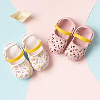 宝宝拖鞋夏季1-3岁女童凉拖公主幼儿室内防滑软底2小孩
