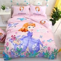 迪士尼卡通纯棉床上四件套可爱儿童床品宿舍床单人被套三件套女孩