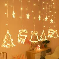 圣诞树灯装饰品挂件LED小彩灯闪灯串灯满天星圣诞节铃铛场景布置