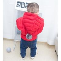 女婴儿衣服冬季外套0岁1男宝宝加绒加厚保暖秋冬装