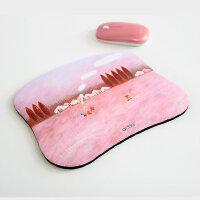 韩国ACTTO安尚可爱卡通个性四季鼠标垫 加厚柔软可水洗布垫不起边