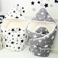 韩国婴儿抱被新生儿宝宝包被春秋冬纯棉加厚夏季薄款抱毯防踢睡袋