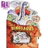 【中商原版】Mini-House:The Land Of Dinosaurs 迷你屋:恐龙 英文原版 进口图书 亲子低幼