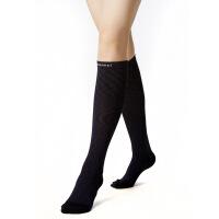 静脉曲张袜弹力袜一运动压力护小腿袜型男女秋 预防型一压力中筒袜(包趾藏蓝纹)