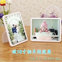 水晶相框摆台创意7寸8寸10寸照片框全家福玻璃相架儿童画框 (含洗相片)