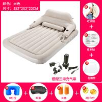 单人懒人靠背充气床自动折叠便携午休气垫床双人家用床垫加厚户外SN2486