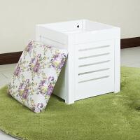 【当当自营】阿栗坞 韩式储物坐凳 凳子 换鞋凳 储物柜 收纳柜 白色 1036