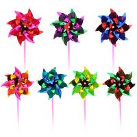 新款微商地推塑料小风车儿童玩具地摊小礼品100个装批�l 风车100个