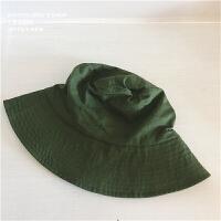 高冷复古百搭大檐渔夫帽子男女韩版纯色钟形盆帽夏季户外遮阳帽 M(56-58cm)
