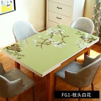 复古餐桌布艺软玻璃桌布免洗长方形胶垫水晶板