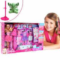 【当当自营】美泰正品Barbie芭比娃娃套装公主设计搭配礼盒 女孩玩具礼物 Y7503