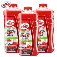 樱桃红洗车水蜡套装车用浓缩大桶泡沫汽车清洗剂洗车液 3瓶