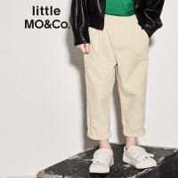 【折后价:149.7】littlemoco男童裤子橡筋松紧腰星星图案灯芯绒休闲长裤 童裤