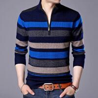 秋冬新款男士纯羊毛针织衫半高立领羊毛衫长袖毛衣线衫打底衫男装