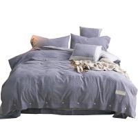 简约纯色全棉剪花四件套素色纯棉被套床单1.5米1.8m2.0米床上用品