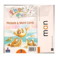 培生英文原版进口 朗文自然拼读 longman Phonics Fun 教学卡片 Picture cards 第二级 教学资源 幼少儿教材 小学英语拼读