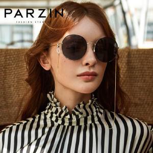 帕森2018新品太阳镜 女 时尚金属圆框偏光镜驾驶镜潮墨镜8180